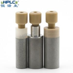 """恒谱生PCTFE不锈钢溶剂吸滤头进样口过滤器液相色谱耗材,OD1/16"""",D12.7xL28.5mm"""