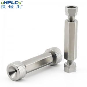 """液相色谱耗材316L不锈钢变径二通气管变径接头,UNF10/32""""变径UNF1/4-28"""""""